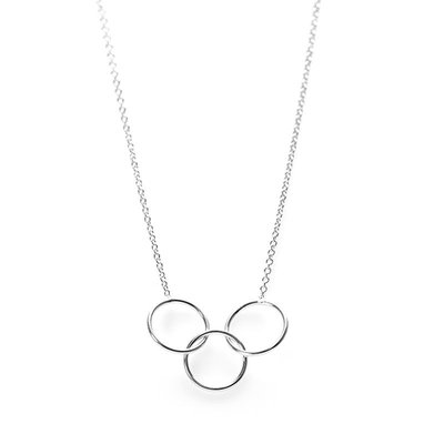 KARMA Jewelry KARMA Ketting | Triple Circle | Zilver | T149