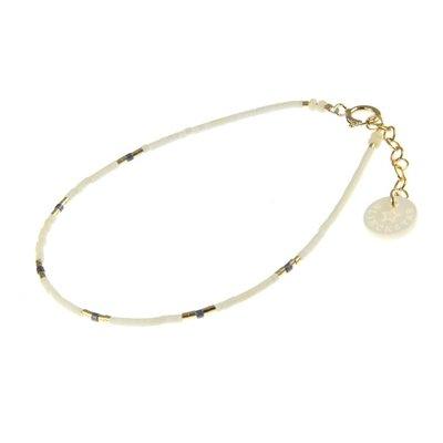 BLINCKSTAR BLINCKSTAR Armband   Goldfilled   Wit   Blauw   1901A18