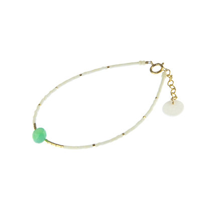 BLINCKSTAR BLINCKSTAR Armband | Goldfilled | Wit | Groen | 1901A29