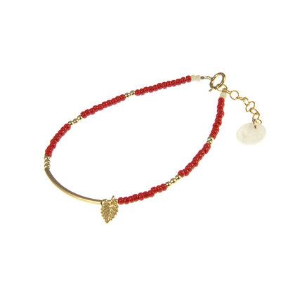 BLINCKSTAR BLINCKSTAR Armband | Goldfilled | Rood | 1901A43