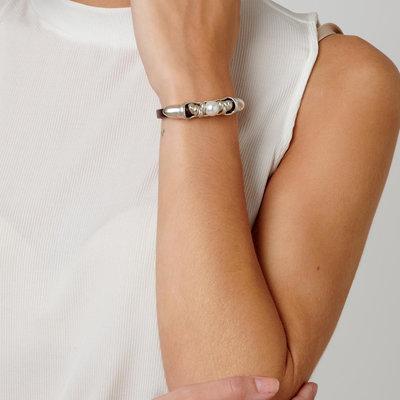 UNOde50 UNOde50 Armband | DESERTED | ZILVER | Parel | Leer | PUL1693BPLMTL0M