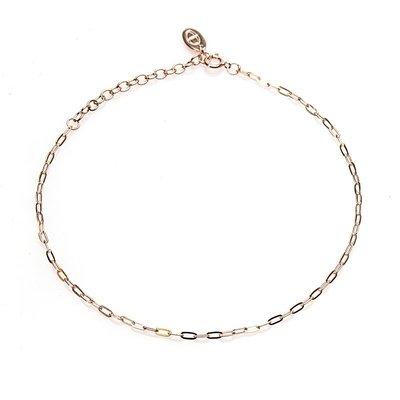 KARMA Jewelry KARMA Enkelbandje | Oval Chain | Rose Gold | 21009RP