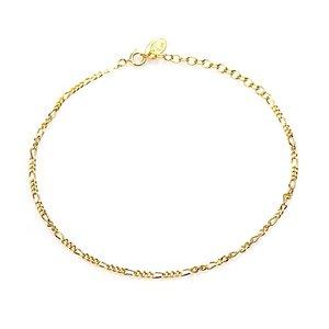 KARMA Jewelry KARMA Enkelbandje | Figaro | Gold