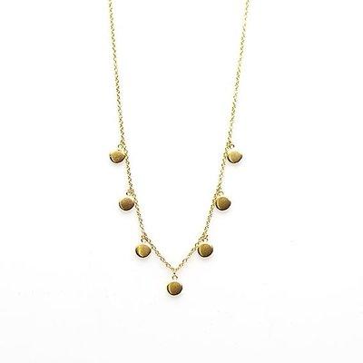 KARMA Jewelry KARMA Ketting | 7 DISCUS | Goud | T97-COL-GP
