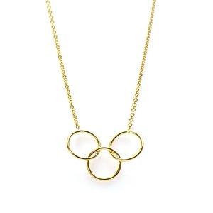 KARMA Jewelry KARMA Ketting | Triple Circle | Goud
