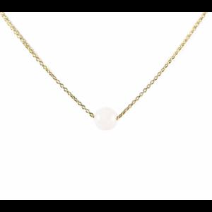 KARMA Jewelry KARMA Ketting | Rozenkwarts | Goud