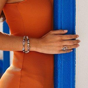 UNOde50 UNOde50 Armband | ENERGY ++ | ZILVER | Rozenkwarts | MY LUCK