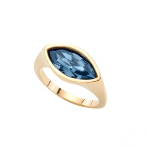 UNOde50 UNOde50  Ring | POP EYE | Goud | Blauw Kristal | MY LUCK