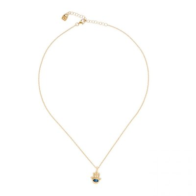 UNOde50 UNOde50  Ketting | GIVE ME 5 | GOUD | Blauw Kristal | MY LUCK | COL1402AZUORO0U