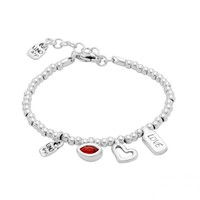 UNOde50 UNOde50 Armband | I'M WAITING 4 U RED | ZILVER | MY LUCK