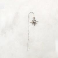 BY NOUCK BY NOUCK Earrings | LONG NORTHSTAR CHAIN | SILVER