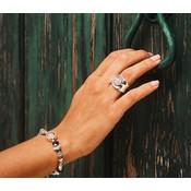 UNOde50 UNOde50 Armband | ENERGY + | ZILVER | Rozenkwarts | MY LUCK  | PUL1848MCLMTL0M