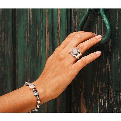 UNOde50 UNOde50 Ring | MY TALISMAN | Zilver Rozenkwarts | MY LUCK | ANI0609RSMTL