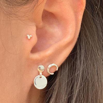 MIAB Jewels MIAB Oorbellen | Zilver | Twice | Sterling zilver