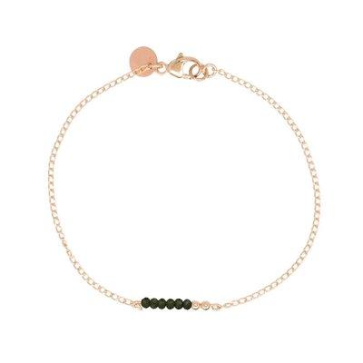 MIAB Jewels MIAB Armband   Rosé Goud   Green  Chain