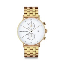 KAPTEN & SON KAPTEN & SON Horloge | CHRONO | SMALL GOLD  | 37 MM