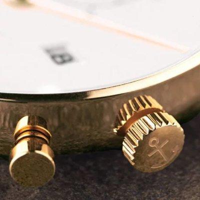 KAPTEN & SON KAPTEN & SON Horloge | CHRONO | SMALL GOLD | 37 MM