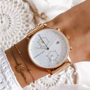 KAPTEN & SON KAPTEN & SON Horloge   CHRONO   SMALL GOLD    37 MM