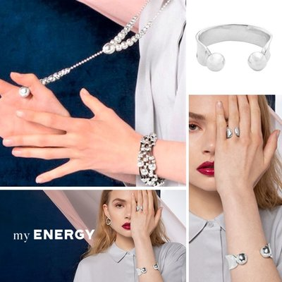 UNOde50 UNOde50 Ring | POLES APART | Zilver Parel | MY ENERGY | ANI0596BPLMTL