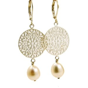 LILLY LILLY Oorbellen - Filli Large Silver | Parel | Zilver