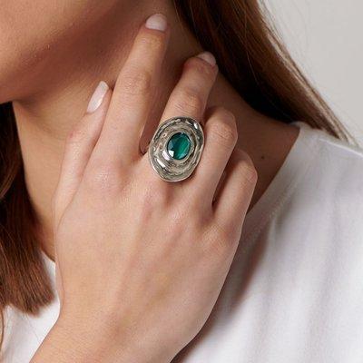 UNOde50 UNOde50 Ring | TEOTL | Zilver | Kristal | Green | SS19 | ANI0588VRDMTL