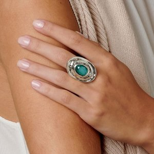 UNOde50 UNOde50 Ring | TEOTL | Zilver | Kristal | Green | SS19