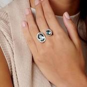 UNOde50 UNOde50 Ring | ALULAS | Zilver | Kristal | Blauw | SS19 | ANI0590AZUMTL