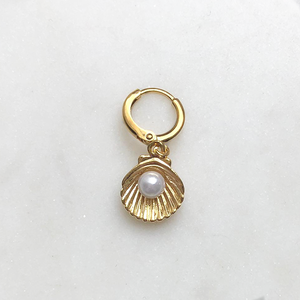 BY NOUCK BY NOUCK Earrings | SHELL MINI PEARL | GOLD