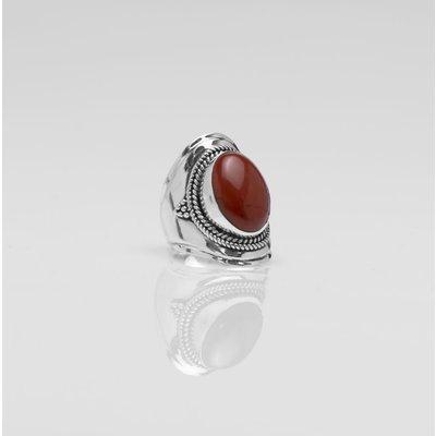 YMALA YMALA Ring | 925 Zilver | RED JASPIS  edelsteen | YM-0027