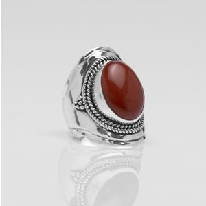 YMALA YMALA Ring | 925 Zilver | RED JASPIS edelsteen