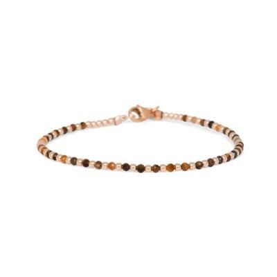 MIAB Jewels MIAB Armband | Goud | Tiger Eye | One by One