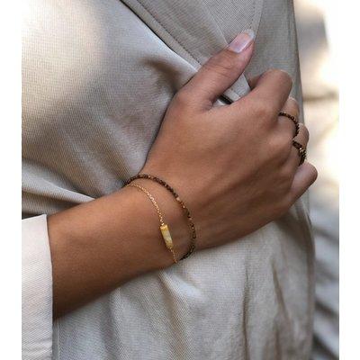 MIAB Jewels MIAB Armband | Goldfilled | Tiger Eye All