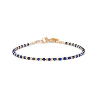MIAB Jewels MIAB Armband   Goud   Lapis Lazuli   One by One