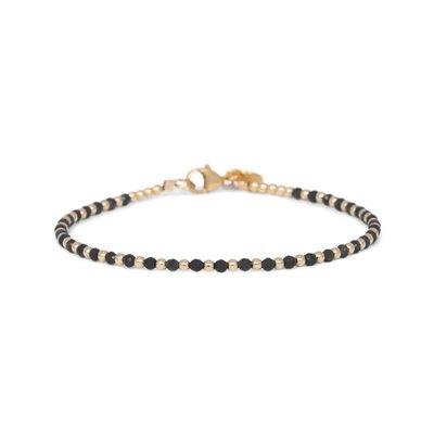 MIAB Jewels MIAB Armband | Goud | Black | One by One
