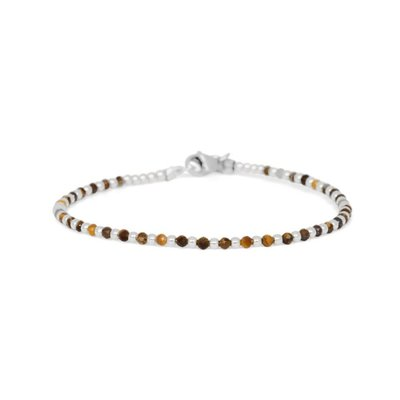 MIAB Jewels MIAB Armband | Zilver | Tiger Eye | One by One