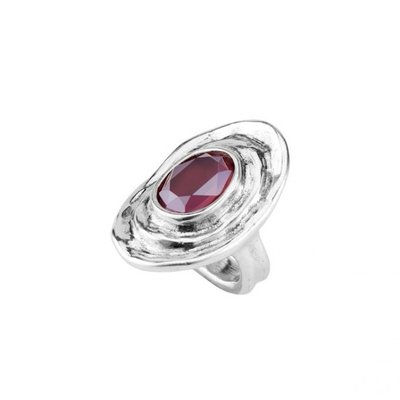 UNOde50 UNOde50 Ring   TEOTL   Zilver   Kristal   Dark Pink   SS19   ANI0588ROJMTL