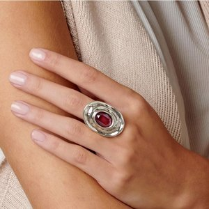 UNOde50 UNOde50 Ring | TEOTL | Zilver | Kristal | Dark Pink | SS19