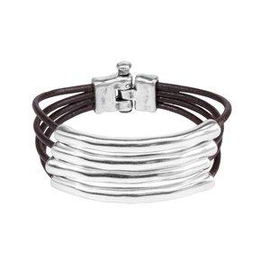UNOde50 UNO de 50 Armband | TU-BI-HING | Zilver | Leer