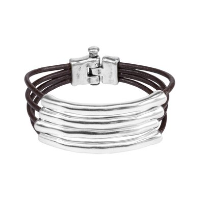 UNOde50 UNO de 50 Armband | TU-BI-HING | Zilver | Leer | PUL1491MTLMAR