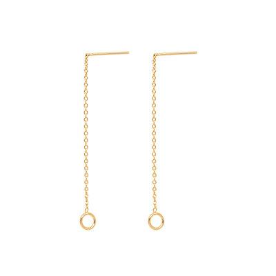 MIAB Jewels MIAB Oorbellen   Goud   Thin Line O   14k Goud Vermeil