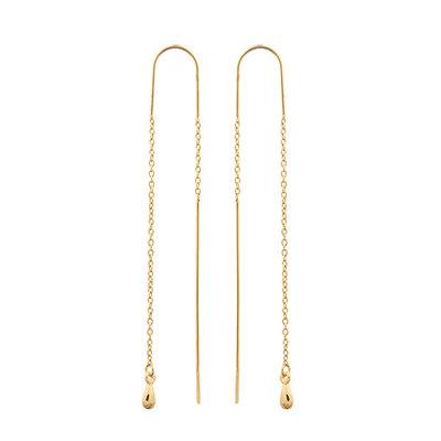 MIAB Jewels MIAB Oorbellen | Goud | Double Line II | 14k Goud Vermeil