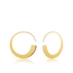 ANIA HAIE ANIA HAIE Earrings |  Geometry Slim Hoop Earrings | GOLD