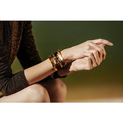 UNOde50 UNOde50 Armband | IBIZA  | GOLD | Stijl Icoon | PUL0227OROMAR0M