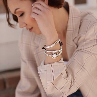 UNOde50 UNOde50 Armband | ANOTHER ROUND | Parel |  PUL1358BPLMTL