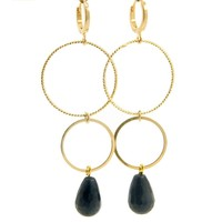 LILLY LILLY Oorbellen | Ringsister Stone Gold | Lapis Lazuli | 14 Karaats