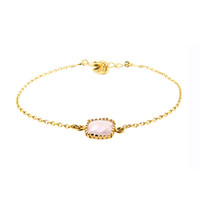 LILLY LILLY Armband | Square Crystal Gold | 14 Karaats | Pink