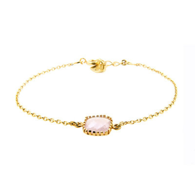 LILLY LILLY Armband | Square Crystal Gold | Pink