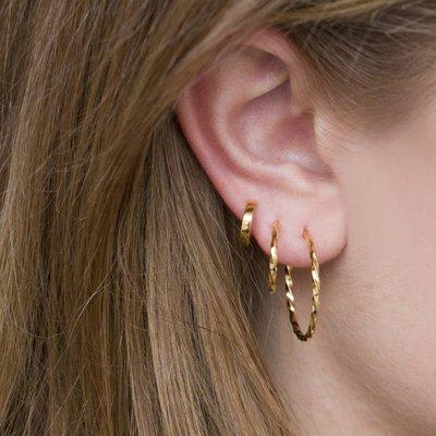 MIAB Jewels MIAB Oorbellen | Rose Goud | Twirly Big | 14k Rose Goud Vermeil