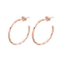 MIAB Jewels MIAB Oorbellen | Rose Goud | Twirly Big