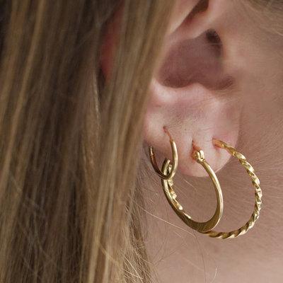 MIAB Jewels MIAB Oorbellen | Rose Goud | Flatly| 14k Rose Goud Vermeil